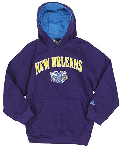 adidas Orleans Hornets NBA - Sudadera con Capucha para niños, Color Morado, S, Púrpura