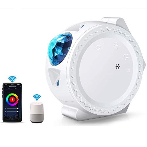 LED Projektionslampe Nachtlicht WIFI, ALED LIGHT 3 in 1 Sternenhimmel Projektor Smart LED Projektionslicht Home Light Arbeite mit Alexa Sound Aktivierte, LED Dekoration Nachtlichter für Kinder Zimmer