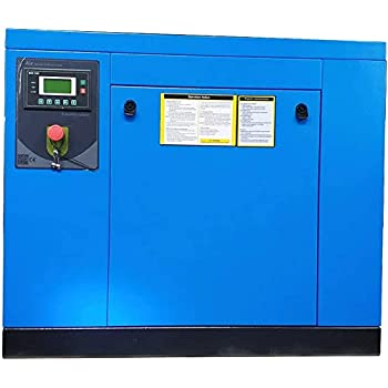 39-35CFM @ 125-150PSI NPT1//2 Permanent Magnetic Variable Speed Drive Skid Commercial Air Compressed System 230V// 1-Phase// 60Hz HPDAVV Rotary Screw Air Compressor 10HP // 7.5KW