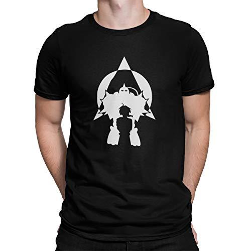 Camiseta Camisa Fullmetal Alchemist Masculino Preto Tamanho:P