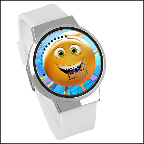Armbanduhren Cartoon Student Elektronische Uhr The Emoji Movie wasserdichte Touch-LED-Uhr (B)