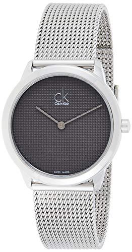 Calvin Klein Herren Analog Quarz Uhr mit Edelstahl Armband K3M2212X