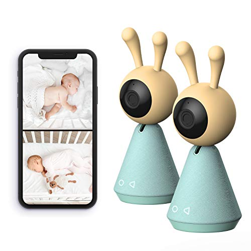 Kami Baby Monitor with 2 Cameras Audio Video Smart, WiFi Smartphone Kami Home...
