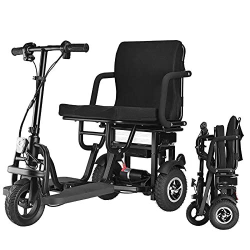 SUYUDD Scooter De Movilidad Eléctrico Plegable De 3 Ruedas, Scooters De Viaje Eléctricos Portátiles Y Ligeros - Scooters para Discapacitados para Adultos Scooters De Movilidad Baratos