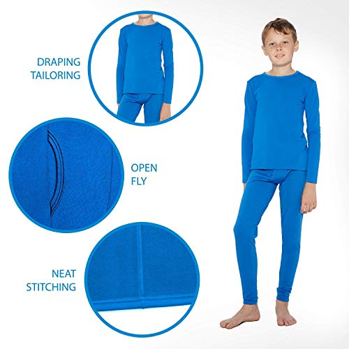 Rocky Thermal Underwear for Boys (Thermal Long Johns Set) Shirt & Pants, Base Layer w/Leggings/Bottoms Ski/Extreme Cold (Black - Medium)