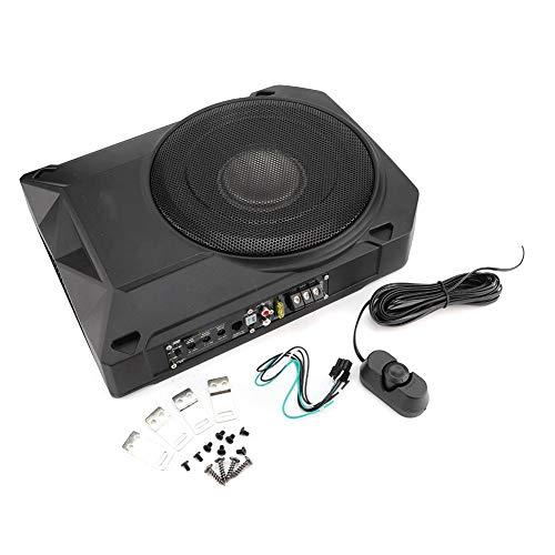 KIMISS Subwoofer autoamplificado de 600 W, Subwoofer Activo bajo el Asiento para automóvil Altavoz de woofer Amplificador de para Audio Universal (Negro)