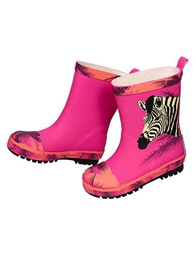 maximo Kinder/Mädchen Gummistiefel Zebra pink Größe 32 bis 36, Kinder Größen:34, Farben:pink