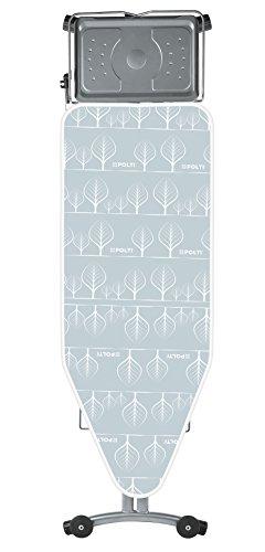 Polti FPAS0045 Vaporella Top Asse da Stiro Piano con Ruote di Trasporto, 124x48.5 cm, gris, acero inoxidable