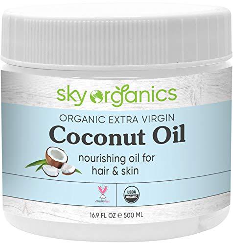 Organic Extra Virgin Coconut Oil by Sky Organics (16.9 oz)...