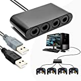 Switch Controller Adapter, Retro Controller Hub for Nintendo Switch Wii U PC USB No Need Drivers Support Rumble Feature with 4 Slots and 2 USB Cable - 3ft