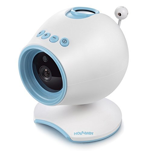 WiFi Baby Monitor, HOLABABY P1 HD Baby Video Camera with Two Way Audio,Remote View Baby Sleep with Soothing Projection, Lullabies, Temperature and Night Vision (Blue)