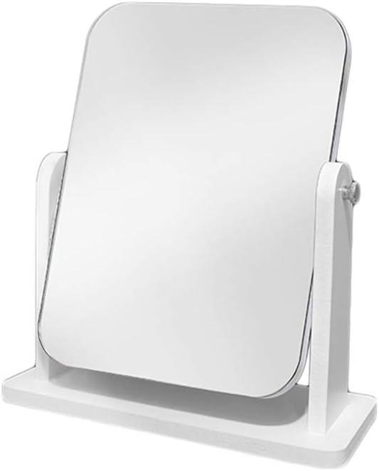 sale Max 53% OFF ZWeiD Wooden Desktop Mirror Adjustable Makeu Rectangle Dispatch
