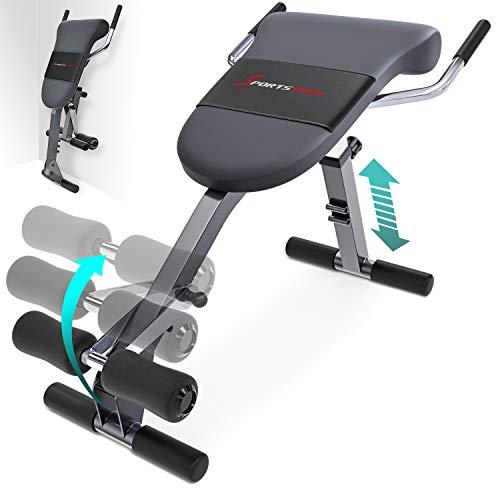 Sportstech einzigartiger 3in1 Rückentrainer & Bauchtrainer mit innovativem Anti-Rutsch Design, multifunktionaler BRT200 mit ergonomischem Polster & 5 Schwierigkeitsgraden, klappbar Dank Quick Release