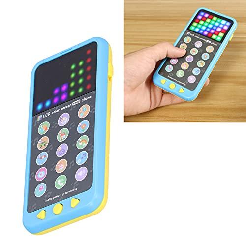 Juguete del teléfono móvil, juguete del teléfono del bebé de la lengua inglesa para el juguete educativo temprano del teléfono de los niños de la música(azul)