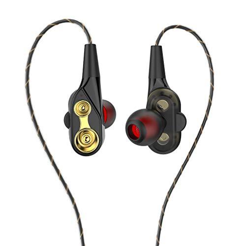 MagiDeal Auriculares Estéreo Intrauditivos de 3,5 Mm Auriculares Auriculares Auriculares Micrófono Remoto Nuevo - Negro + Dorado
