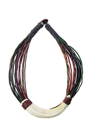 The African Touch Collar de colmillo de jabalí
