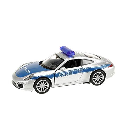 Welly–Porsche 911Polizei Juguetes electrónicos, 21654z, Multicolor