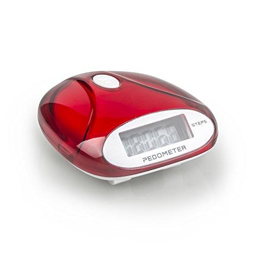 Preisvergleich Produktbild Incutex Schrittzähler,  Pedometer,  Stepcounter,  Schrittmesser,  rot