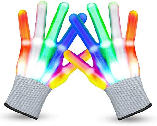 VWMYQ LED Gloves Christmas Cool Toys for Kids LED Gloves Light Up Gloves Glowing Christmas Costume product image