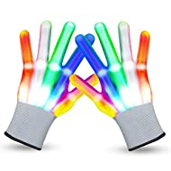 VWMYQ LED Gloves Cool Toys for Kids Toys for 3-15 Year Old Boys Gifts for Girls Boy Light Up Gloves Glowing Costume Clubbing Party Favors Toys for Boys Girls Christmas Stocking