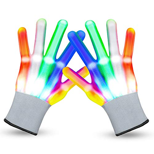 LED Gloves Cool Toys for Kids Toys for 3-15 Year Old Boys Gifts for Girls Boy Light Up Gloves Glowing Costume Party Favors Halloween Christmas Stocking Stuffers Toys for Boys Girls11