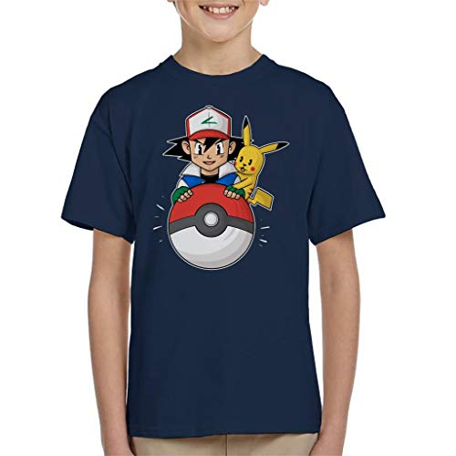 My Pokeball Ash and Pikachu Kid's T-Shirt