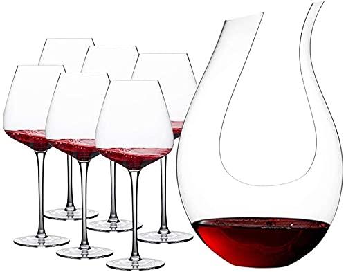 ZRDSZWZ Calici affidabili The One Bicchieri da vino rosso dal design perfetto, set di 2 bicchieri da vino con un decanter in cristallo Stemware (colore D)