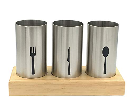 4PC Flatware Caddy Holder Stainless Steel