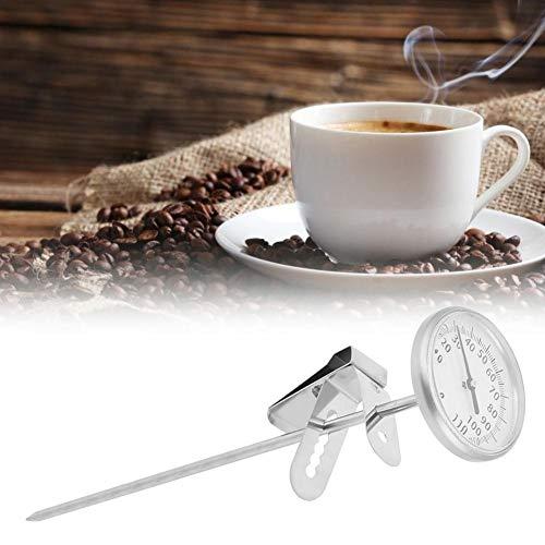 Fabater Kaffeethermometer, Sonden-Thermometer mit klarer und genauer Skala, Küchenlebensmittel Sofort ablesbares Korrosionsbeständigkeitsmetall für den Heimgebrauch