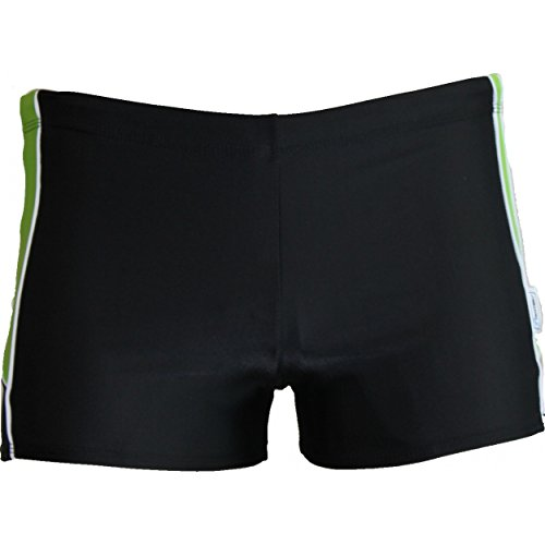 Stanteks Schwimmbekleidung Jungen Badehose Kinder Badeshorts Shorts SK0035, 128, Schwarz / Grün