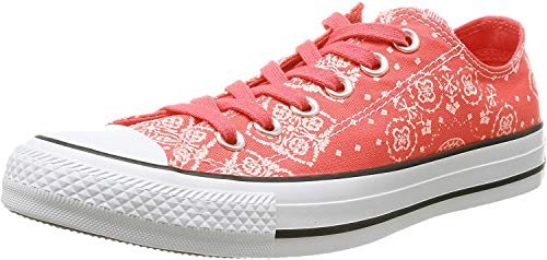 Converse Damen Schuhe Chucks All Star Chuck Taylor CT Ox Koralle Sneakers Rot Größe 36,5