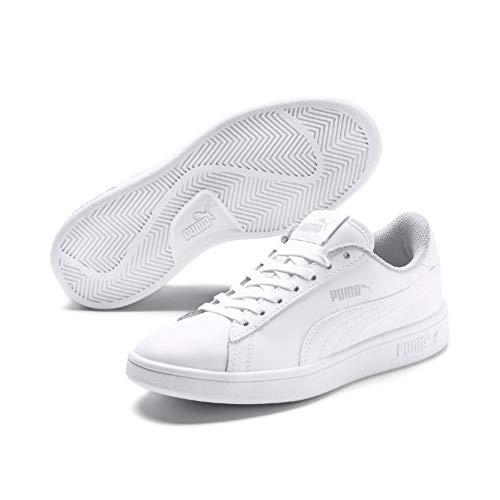 PUMA Smash V2 L JR, Zapatillas Unisex niños, Blanco White White, 38 EU
