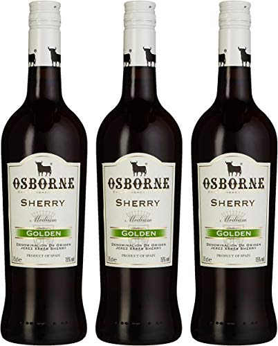 Osborne Sherry Golden,Medium 15 % vol, 3er Pack (3 x 750 ml)