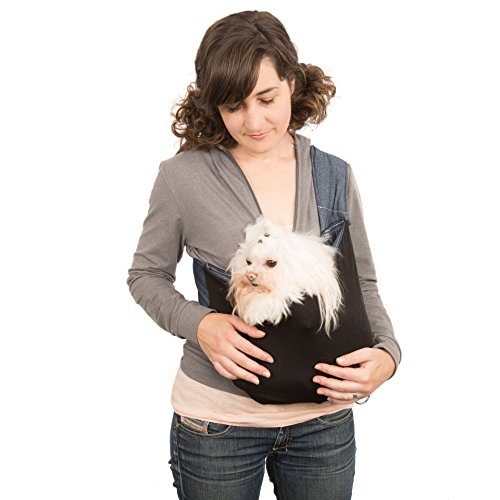 kangapooch Small Dog Carrier (M) Made in USA, Organic Cotton