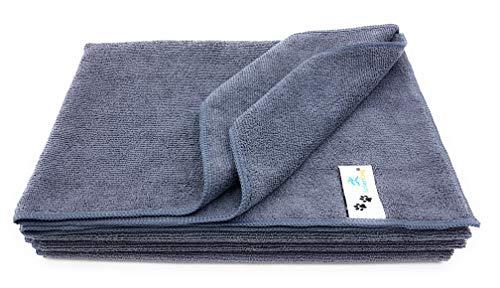 SellerKing® 4 Hundehandtücher Haustierhandtücher. Set für Fellpflege, Fellreinigung, Pfotenpflege, Pfotenreinigung. Handtuch Hunde Katzen.