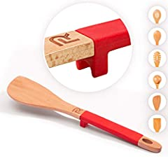 BRILLIANT KITCHEN UTILITY- Brighten up your kitchen with the radiant convenience of this wood tuner. Better than most heat resistant spatulas and wooden spatula for cooking, this high heat spatula is crafted from eco-friendly beech wood with a comfy ...