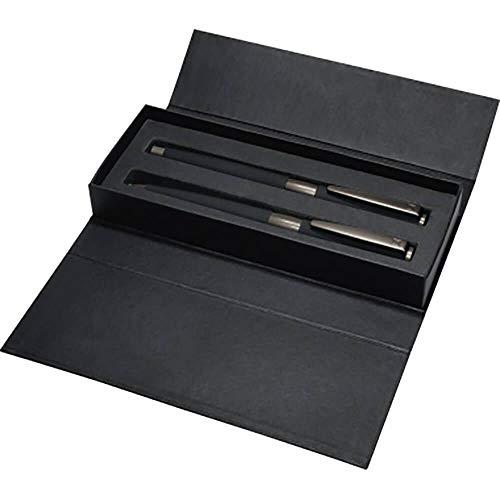 Senator S-066206104502 Schreibset Image Black Line, Rollerball und Kugelschreiber, blau