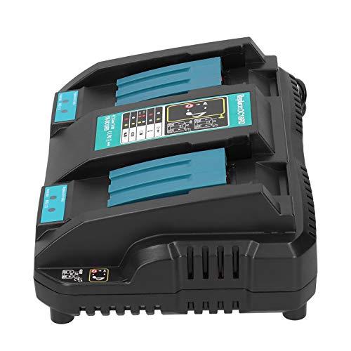 Cargador para batería Makita, Equipo de Carga de batería 18V 4.0Ah Ion de Litio Suministros industriales DC18RC 100‑240V (Enchufe de la UE)(EU)