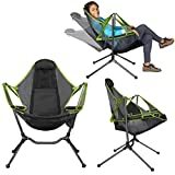 Chair Camping Swing Luxury Recliner Relaxation Swinging Comfort Lean Back Outdoor Folding Chair Fishing Chairs Ultralight Folding Hammock Recliner Swing (Green)
