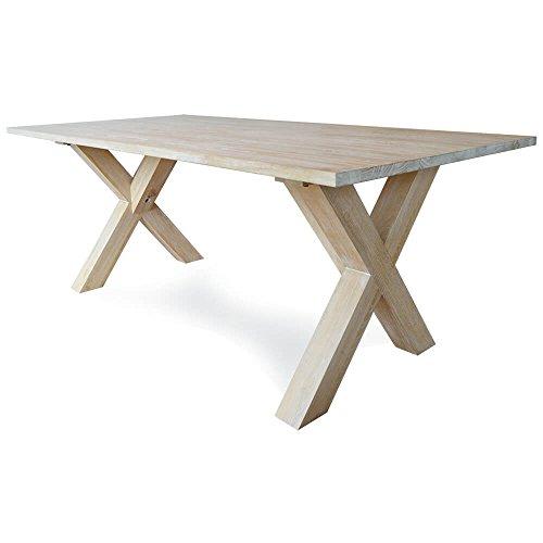 Damiware Brooklyn Bridge Table de salle à manger rectangulaire en frêne massif 200 x 100 cm