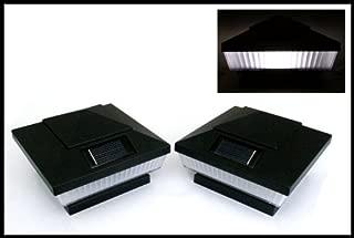 12-Pack Solar Black Post Deck Fence Cap Lights for 4