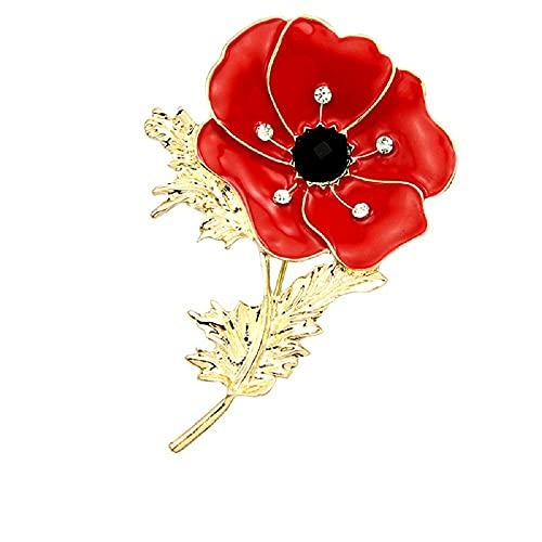 HHBB Broche de señoras moda rojo esmalte Pin traje joyería moda accesorio boda fiesta decoración XZ150