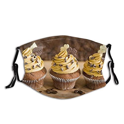 Máscara facial cómoda Muffins Hojas de Chocolate Crema a Prueba de Sol Moda Bandana Headwear para Pescar