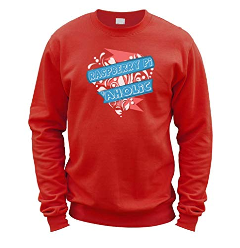 This Way Up Raspberry Pi Aholic Sweater [Red Medium]