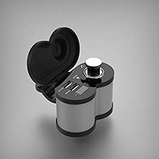 Generic Motorcycle USB Charger Phone 12V/24V Cigar Lighter Socket Dual USB Charger LED Voltmeter Waterproof(Color: Silver)