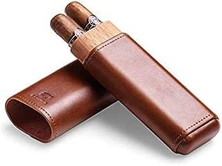 silver color white GOMYIE Cigar Travel Tube Humidor Airtight Stainless Steel Storage Case