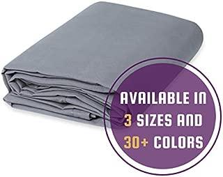 8' x 10' - 10 oz Cotton Canvas Drop Cloth (Grey)