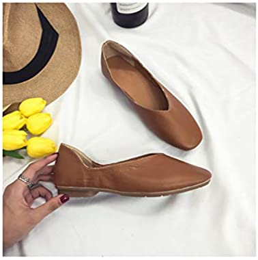 Square Head Flat Bottom Shallow Simple Retro Wild Casual Flat
