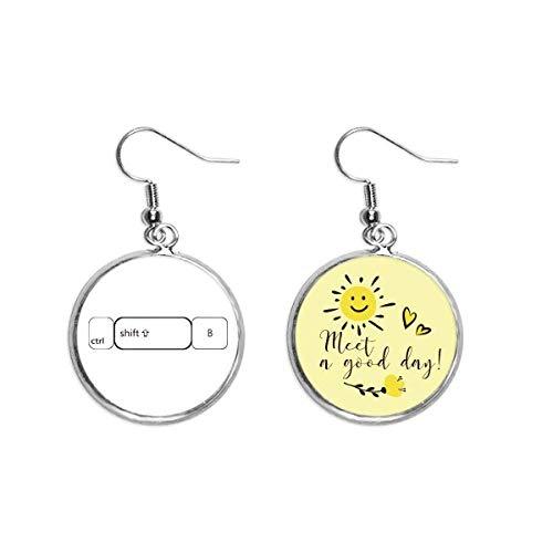 Ohrringe mit Keyboard-Symbol, Ctrl Shift-B, Ohr-Tropfen, Sonnenblume, Schmuck
