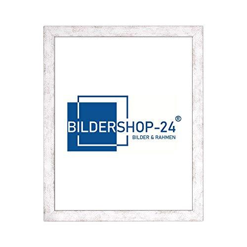 Bildershop-24 Puzzlerahmen London für Puzzle ca. 500-1000 Teile 50x70cm 70x50cm Weiß Vintage mit Acrylglas